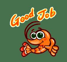 "Animated shrimp ""Bori"" Stickers sticker #14158798"