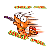 "Animated shrimp ""Bori"" Stickers sticker #14158808"