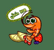 "Animated shrimp ""Bori"" Stickers sticker #14158809"