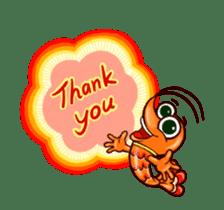 "Animated shrimp ""Bori"" Stickers sticker #14158811"