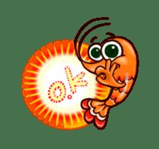 "Animated shrimp ""Bori"" Stickers sticker #14158813"