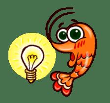 "Animated shrimp ""Bori"" Stickers sticker #14158817"