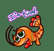 "Animated shrimp ""Bori"" Stickers sticker #14158819"