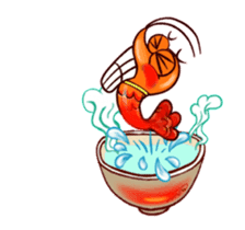 "Animated shrimp ""Bori"" Stickers sticker #14158821"