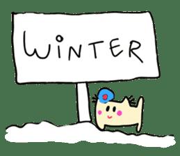 Dinkyneko & Friends #8 _Winter X'mas HNY sticker #14158934