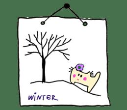 Dinkyneko & Friends #8 _Winter X'mas HNY sticker #14158935