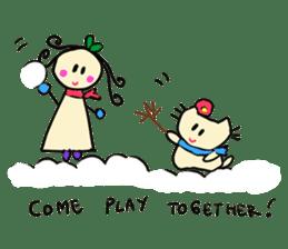 Dinkyneko & Friends #8 _Winter X'mas HNY sticker #14158944