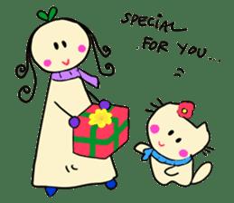 Dinkyneko & Friends #8 _Winter X'mas HNY sticker #14158957