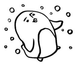 Doodle penguin Sticker2 sticker #14163624