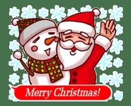 Merry Christmas Sticker! with Santa sticker #14163814