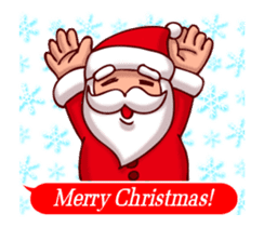Merry Christmas Sticker! with Santa sticker #14163815