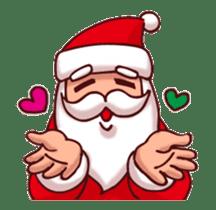 Merry Christmas Sticker! with Santa sticker #14163816