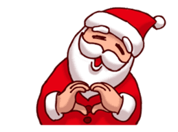 Merry Christmas Sticker! with Santa sticker #14163818
