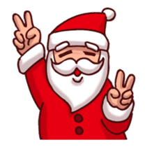 Merry Christmas Sticker! with Santa sticker #14163820