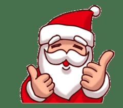 Merry Christmas Sticker! with Santa sticker #14163821