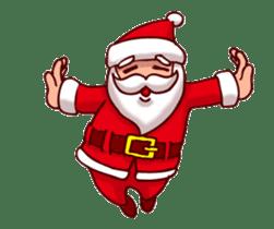 Merry Christmas Sticker! with Santa sticker #14163822
