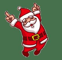Merry Christmas Sticker! with Santa sticker #14163823