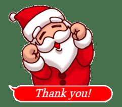 Merry Christmas Sticker! with Santa sticker #14163827