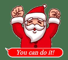 Merry Christmas Sticker! with Santa sticker #14163828