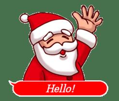 Merry Christmas Sticker! with Santa sticker #14163829
