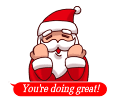 Merry Christmas Sticker! with Santa sticker #14163831
