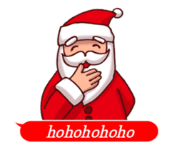 Merry Christmas Sticker! with Santa sticker #14163832