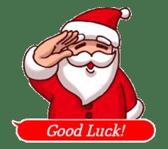 Merry Christmas Sticker! with Santa sticker #14163834