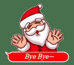 Merry Christmas Sticker! with Santa sticker #14163836