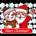Merry Christmas Sticker! with Santa