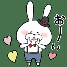 Lover rabbits for boy friend. sticker #14163946