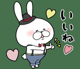 Lover rabbits for boy friend. sticker #14163948