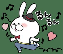 Lover rabbits for boy friend. sticker #14163951