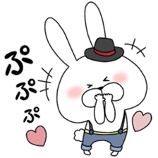 Lover rabbits for boy friend. sticker #14163952