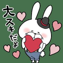Lover rabbits for boy friend. sticker #14163954