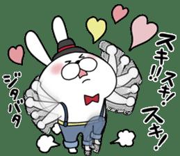 Lover rabbits for boy friend. sticker #14163956