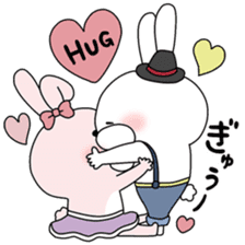 Lover rabbits for boy friend. sticker #14163961