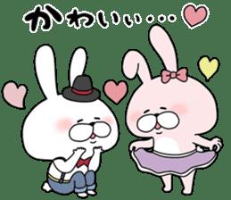 Lover rabbits for boy friend. sticker #14163962