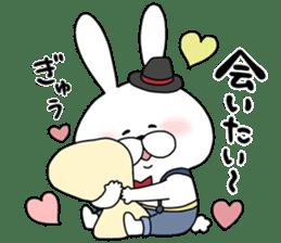 Lover rabbits for boy friend. sticker #14163963