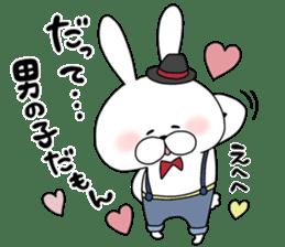 Lover rabbits for boy friend. sticker #14163966
