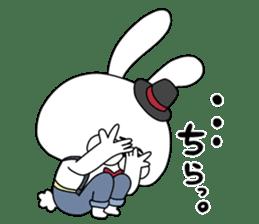 Lover rabbits for boy friend. sticker #14163973