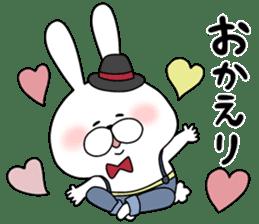 Lover rabbits for boy friend. sticker #14163976