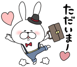 Lover rabbits for boy friend. sticker #14163977