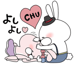 Lover rabbits for boy friend. sticker #14163979