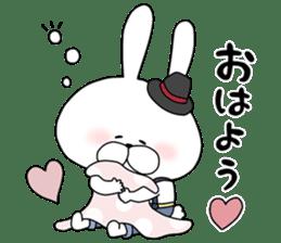 Lover rabbits for boy friend. sticker #14163980