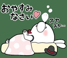 Lover rabbits for boy friend. sticker #14163981