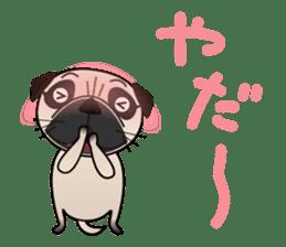 Pretty Pug!4 sticker #14165643