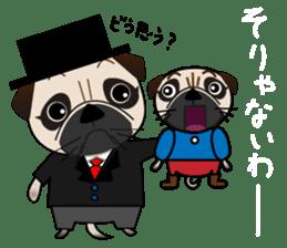 Pretty Pug!4 sticker #14165655