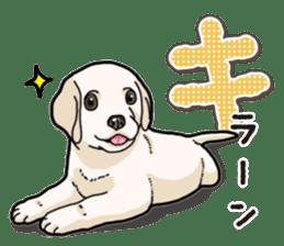 Banana's puppy Labrador retriever sticker #14166417