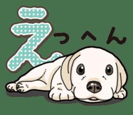 Banana's puppy Labrador retriever sticker #14166420