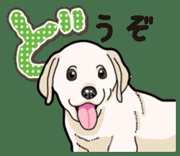 Banana's puppy Labrador retriever sticker #14166430